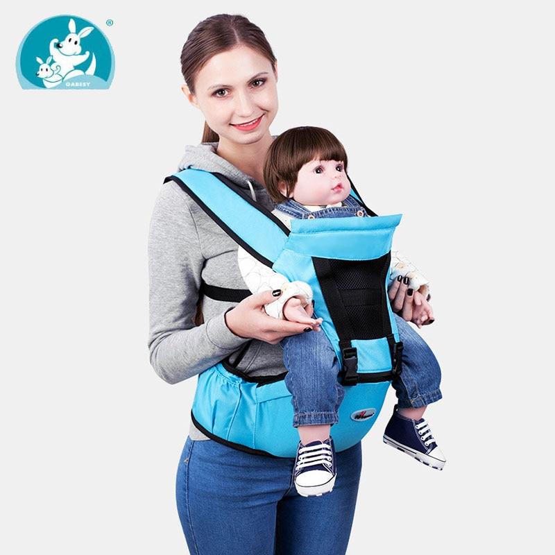Été Respirant Ergonomique bébé sling wrap transporteur sac à dos porta bebe  kangourou siège pour hanche dd1db0fc7a3