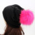 GZHilovingL Nova Primavera Gorros Chapéus Para Mulheres Macio Poliéster Desleixo Gorros Com Pompom De Pele Real Chapéu Chapéus Para Senhoras Oversize
