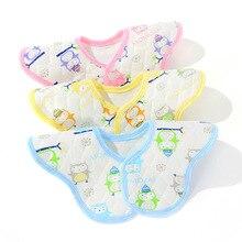 Eco-cotton Flower Bibs Baby Saliva Towel Bib Waterproof Spring and Summer Saliva Towel 360 Degree Bib Baby Products ABC08