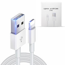 Originele USB Kabel Snel Opladen USB Opladen Data Sync Kabel Voor iPhone X 8 7 6 6S Plus 5 5S Voor iPad Air Charger Cord Met Doos(China)