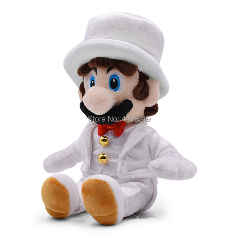 White Dress Sitting Super Mario Plush Toys For Children Gifts in Movies TV from Toys Hobbies