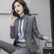 7c790715d Grade de Trabalho OL Senhora Do Escritório calças Ternos 2 Duas Peças  Define Mulheres Elegantes Blazer