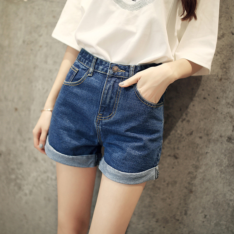 Women Jeans Shorts Summer 2019 New Arrivals Single Buttons Wide Leg Shorts Mini Denim Short Ladies Casual Jean Short Feminino(China)