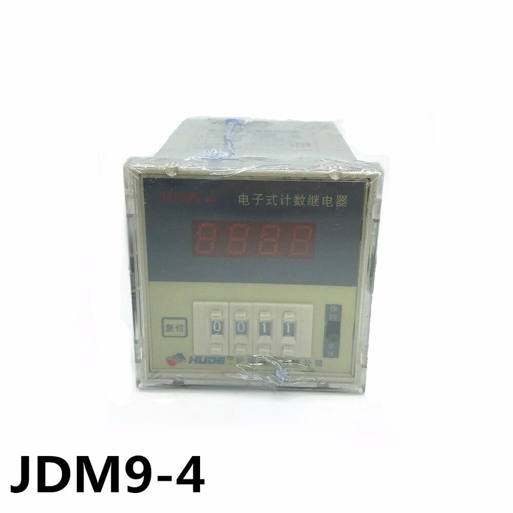 цена на JDM9-4 JDM9-6 electronic counting relay / digital counter preset counter AC220V