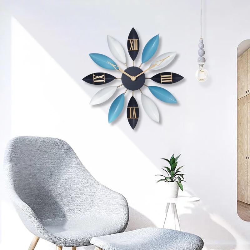 Moderne Simple salon créatif mode Art silencieux chambre horloge ménage montre nordique atmosphérique montre