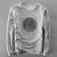 Italy New Brand Autumn Cotton Hoodies Men Long Sleeve Casual Men Sweatshirt Gray Embroidered Hoodie Mens