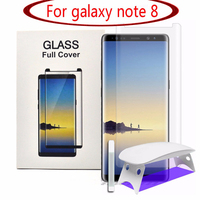 Screen Protector For Samsung note 8 3D Curved Tempered Glass Full Coverage Film with UVLight Liquid for Galaxy note8