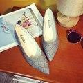 2017 Весной и осенью новой Корейской версии мелкая рот указал Горох женщины плоские туфли Женщина диких работы обуви
