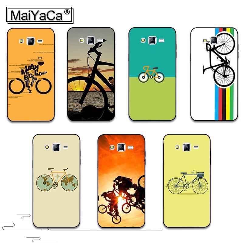 Bicicleta rayas mundo carrera de carretera cubierta de accesorios del teléfono d