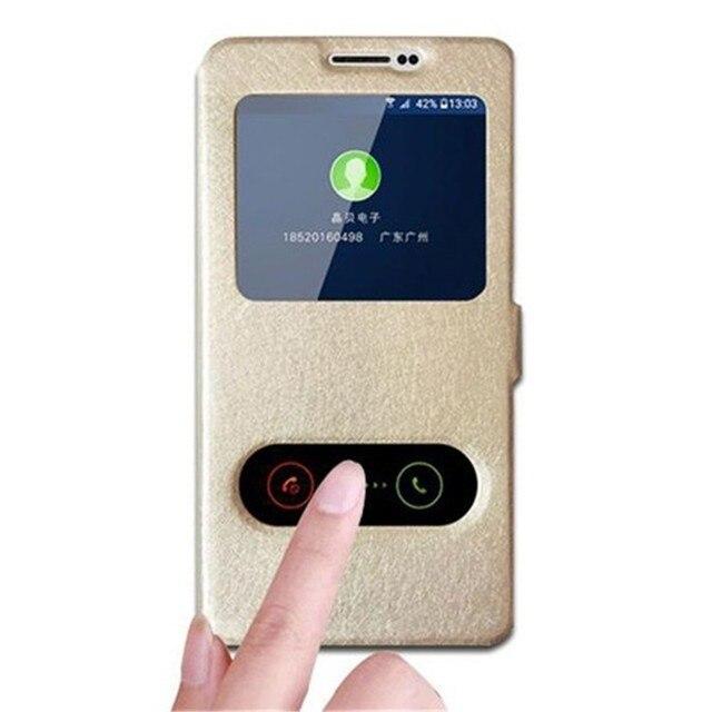 A9 Double View Window Leather Case Cover Fundas for Huawei Y 5ii / Y 5 II / Y5 2nd Gen / CUN-U29 CUN U29