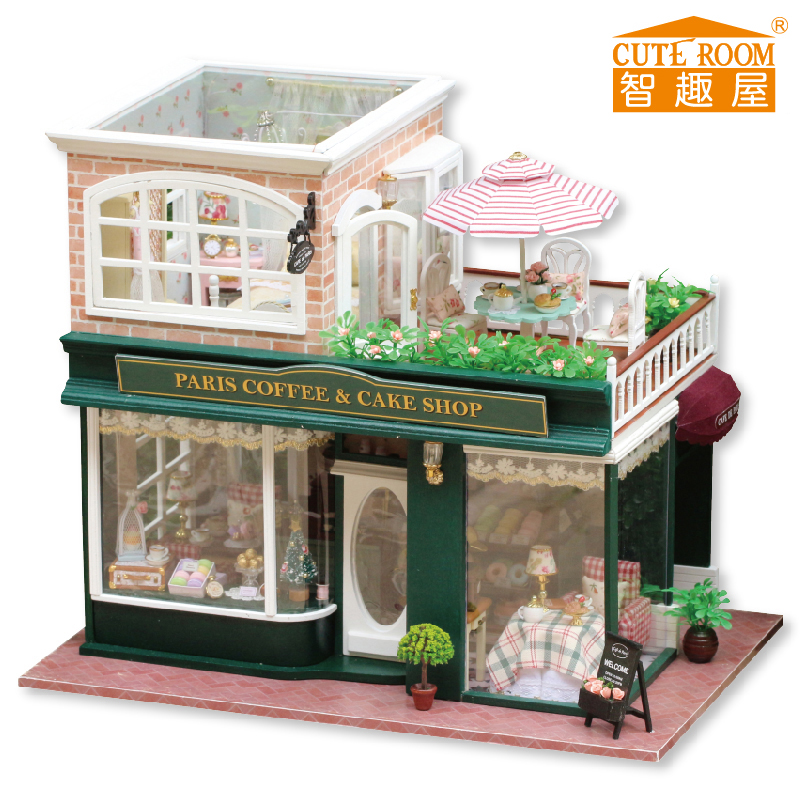 DIY Wooden House Miniaturas with Furniture DIY Miniature House Dollhouse Toys for Children Christmas and Birthday Gift A28 diy wooden house miniaturas with furniture diy miniature house dollhouse toys for children christmas and birthday gift a28
