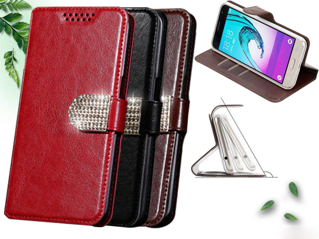 HOT SALE! Wallet For Philips Xenium S386 Case Luxury High Quality Exclusive PU Leather Flip case with Strap