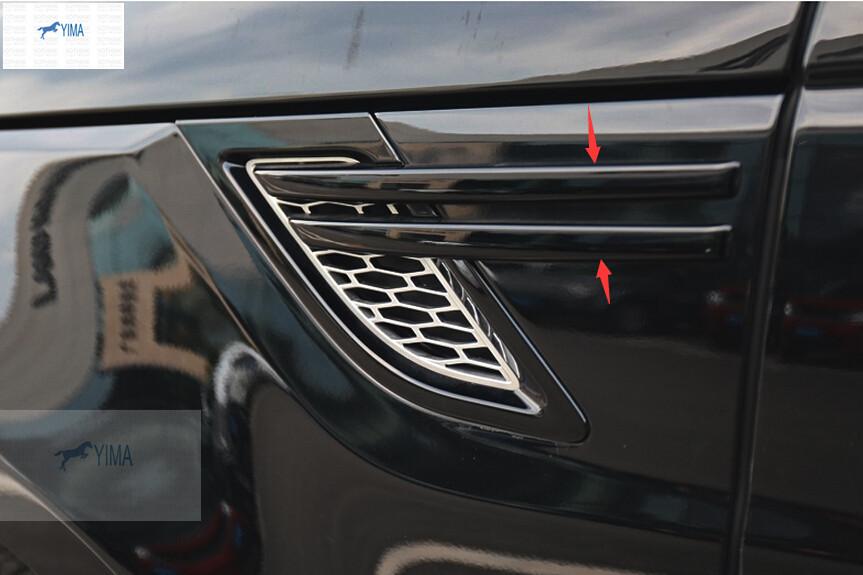 For RANGE ROVER Sport 2014 2015 ABS Side Door Air Outlet Vent Cover Trim 4pcs carbon fiber style abs plastic inner door decoration cover trim for landrover range rover sport rr sport 2014 2017 new