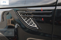 Yimaautotrims Side Door Air Conditioning AC Vent Outlet Cover Trim Fit For RANGE ROVER Sport 2014 2015 ABS Exterior