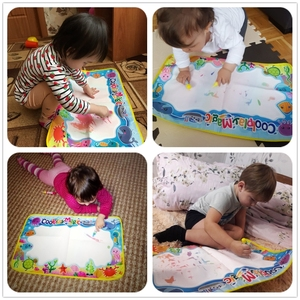 Image 5 - Coolplay Animal Themes Rainbow Water Drawing Mat & 2 Pens Water Doodle Mat Coloring Books Water Painting Rug Xmas Gift for Kids