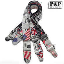 Flag of the United Kingdom United States Durable Bass Electric Acoustic Guitar Strap Belt 3 color
