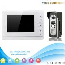 """GZGMET BLANCO 7 """"TFT monitor de Video Teléfono de La Puerta Del Intercomunicador Del Timbre Sistema vs Cámara de visión nocturna"""