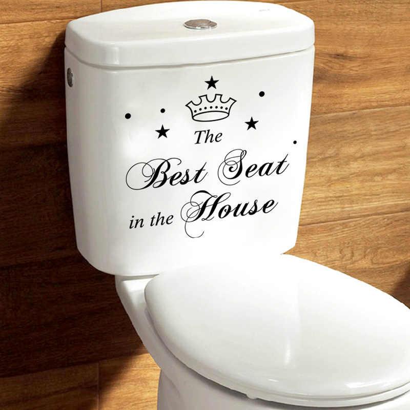 Best Posto in Casa caratteri Corona Adesivi Toilette Bagno Decorazione Della Casa di arte Del Vinile Decalcomanie Divertente autoadesivo della parete impermeabile