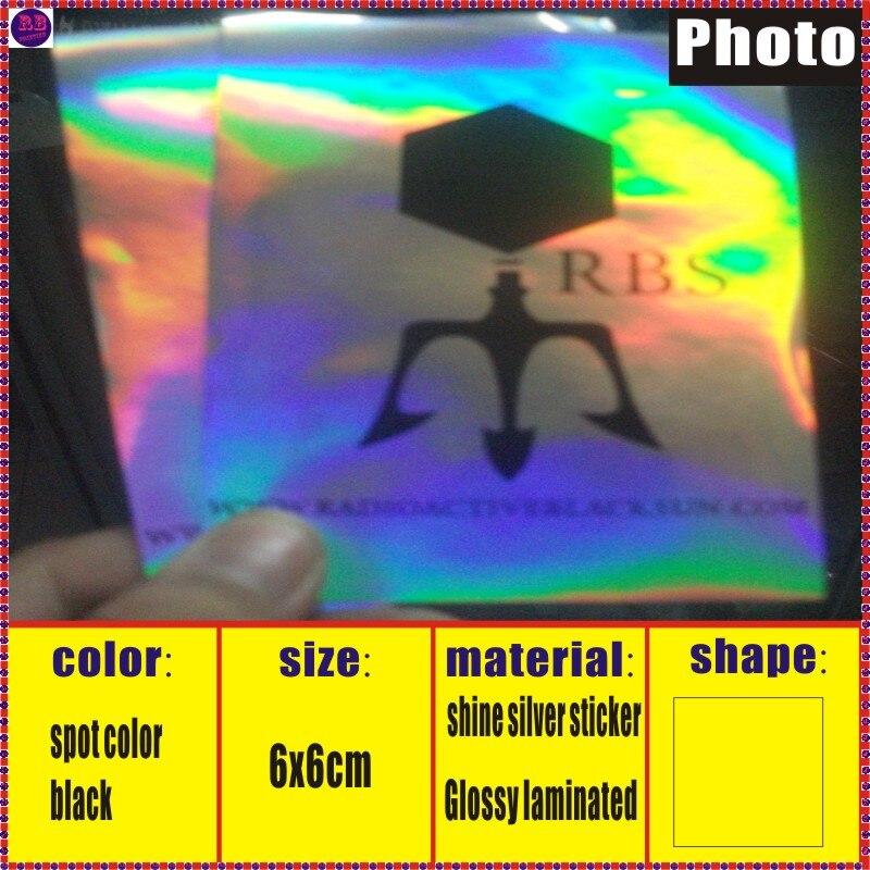 lasersilver da impressão impressão da etiqueta do pvc de 48x15mm