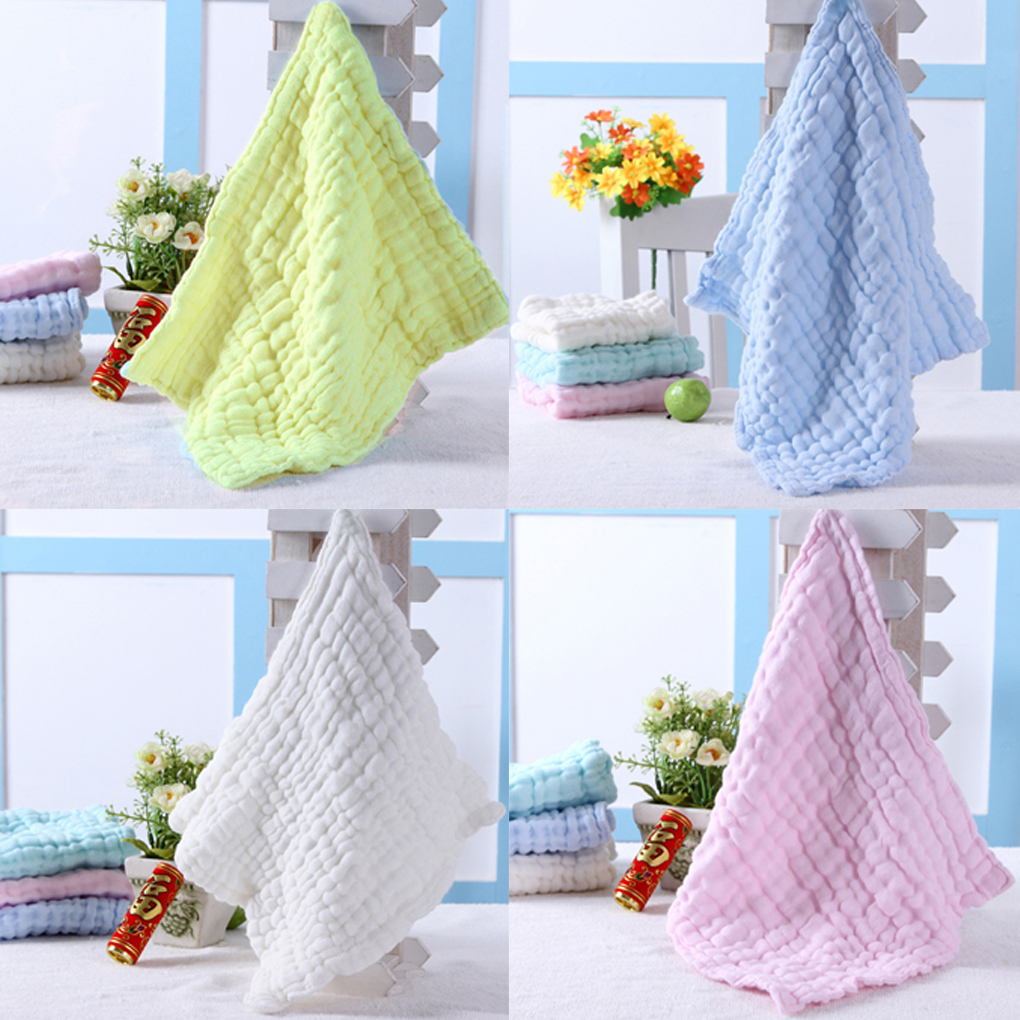 28 * 28cm Soft Cotton Baby Handkerchief Infant KidsTowel Newborn Baby Washcloth Baby Child Feeding Wipe Cloth Bathing Face