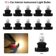 VODOOL 10 шт T3 светодиодный 12 V 1,2 W авто подсветка приборной панели лампочки Dashboard лампы для Honda ДЛЯ Alpha автомобильные лампы освещения приборов