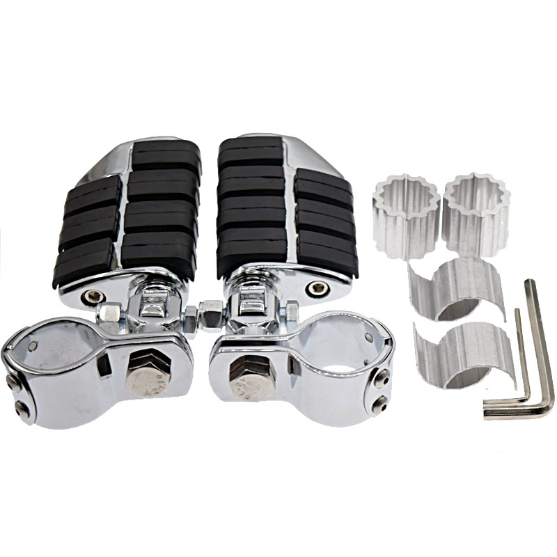Motorcycle Adjustable Chrome Highway Foot Pegs FootPegs For Harley touring sportster 1200 sportster 883 softail 25mm 30mm 35mm chrome motorcycle footpeg foot peg foot rest case for harley indian chief dyna touring softail sportster 883 1200 v rod