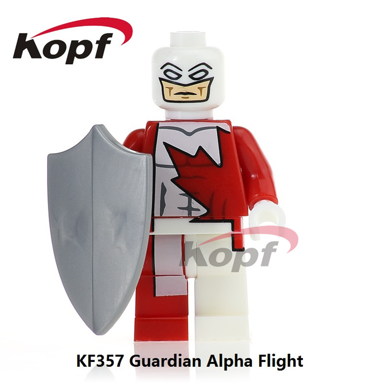 50Pcs KF357 Guardian Alpha Flight Super Heroes Captain Canuck Luke Cage Prowler Building Blocks Best Education Toys for children