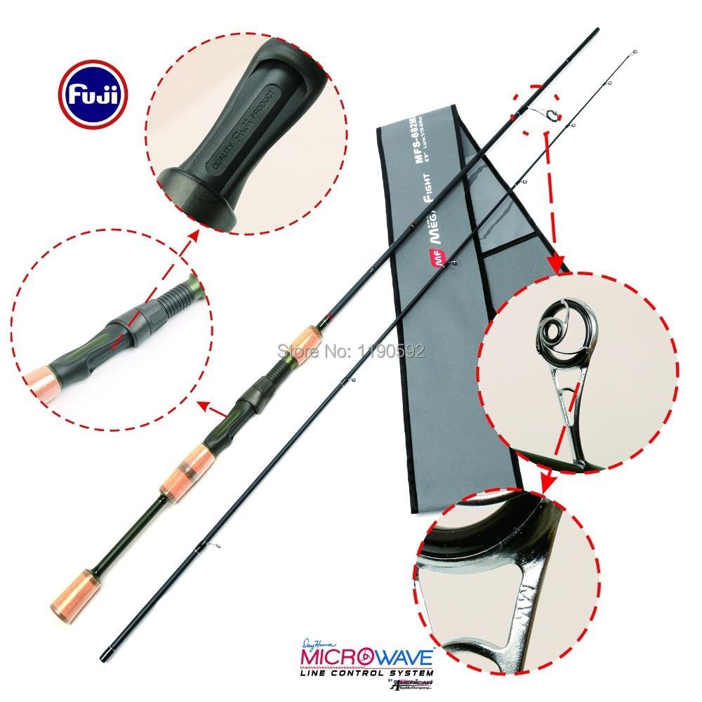 Free Shipping!! MPS 682 ML 2pcs/lot  spinning fishing rod 30T+36T/IM 8 carbon fiber Megarfight spinning rod