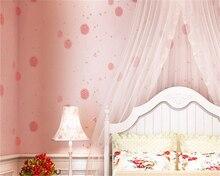 beibehang Romantic Pastoral Nonwovens Wallpaper Kids Room Background Cartoon Warm Dandelion 3d papel de parede behang