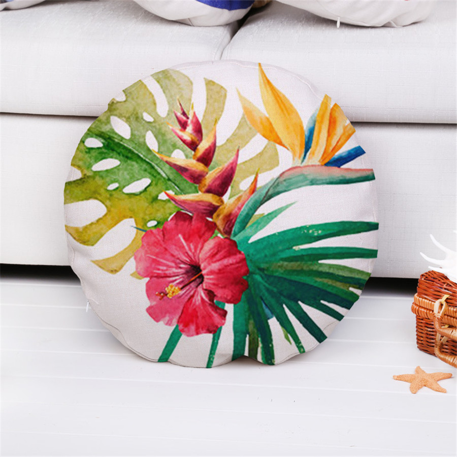 Декоративные бросок наволочка круглый лист животные Чехлы для диван домашний автомобиля cojines 45 см Капа almofadas