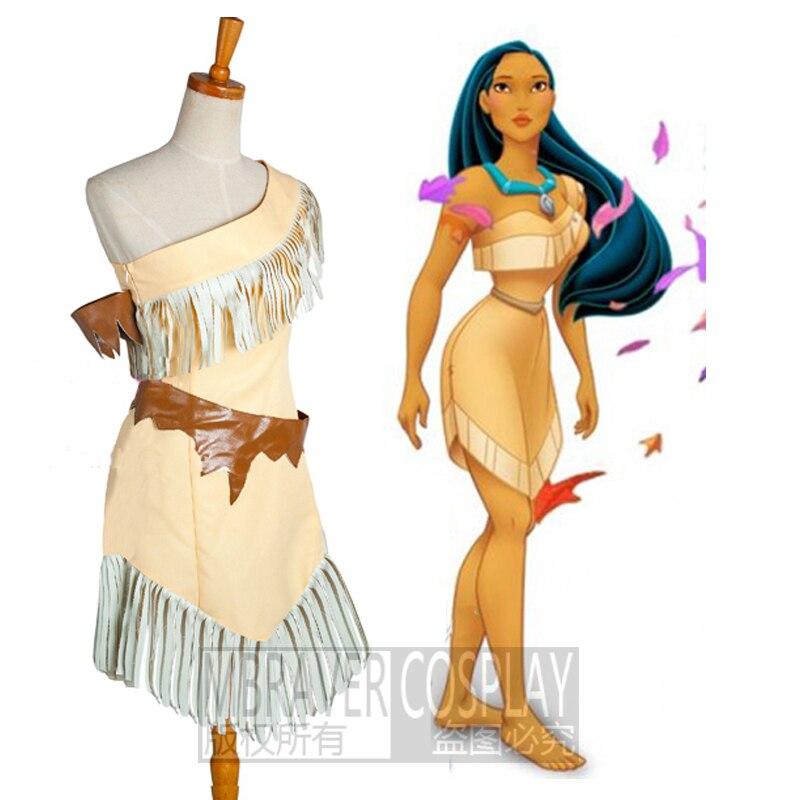Custom Made Pocahontas Indian Princess Dress Costum Sexy