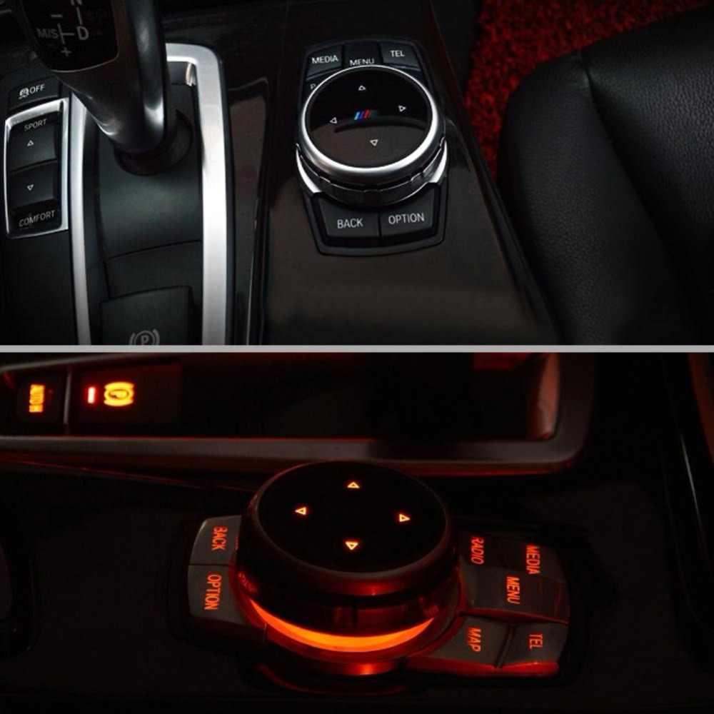Кнопок автомобильных мультимедиа-Стикеры Кепки декоративная накладка 6 стилей для BMW X1 X3 X5 X6 F30 E90 F10 F18 F25 E60