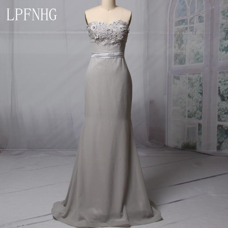 2018 vestidos de dama de honor larga sirena sin tirantes sin respaldo - Vestidos de fiesta de boda