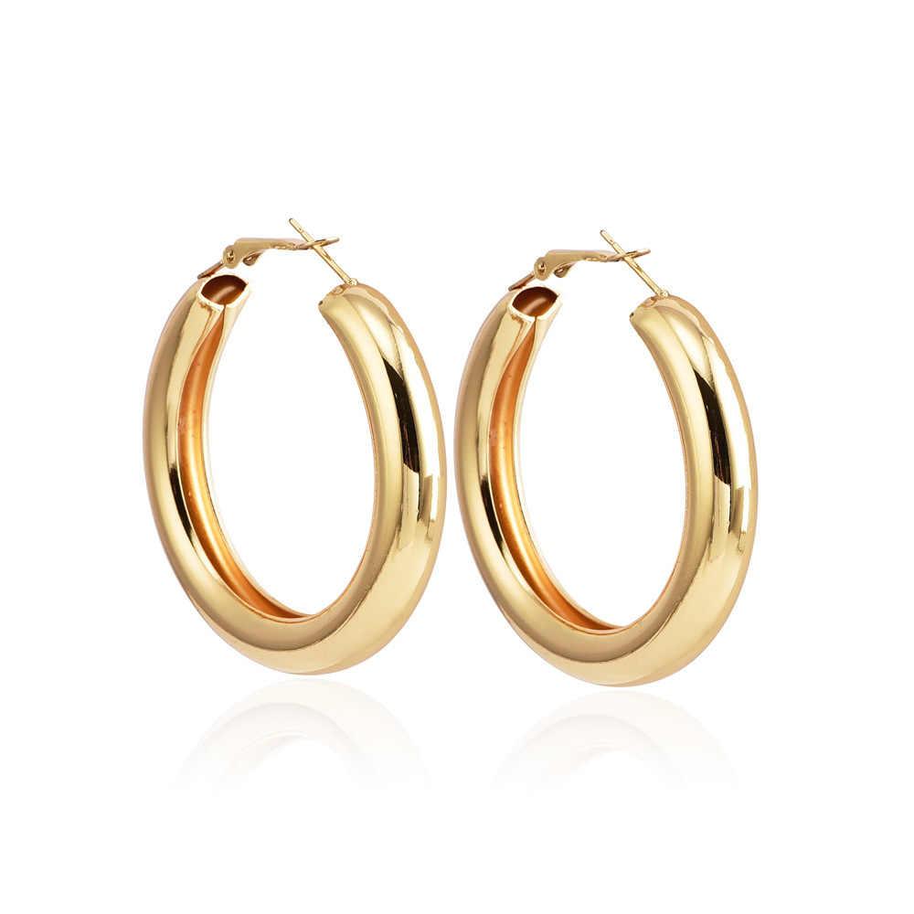 2019 ต่างหูแฟชั่นบุคลิกภาพหนารอบโลหะเลดี้ Ear แหวน Hyperbole ขายเครื่องประดับขายส่งต่างหูงานแต่งงาน