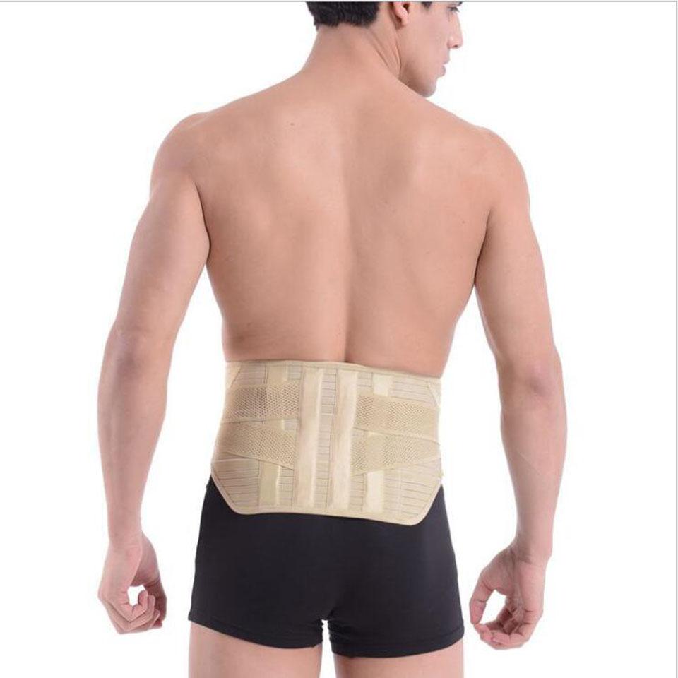 Back Brace Belt Lumbar Support Belts for Men Medical Corset Back Support 6 pcs Magnets Massager Waist Protection Back Pain