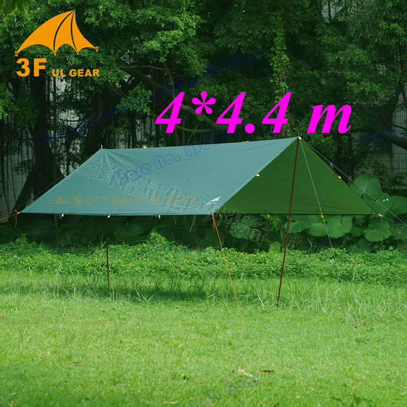 Tarp for Korea National forest 4x4 4 meters Anti UV 210T with silver coating outdoor large