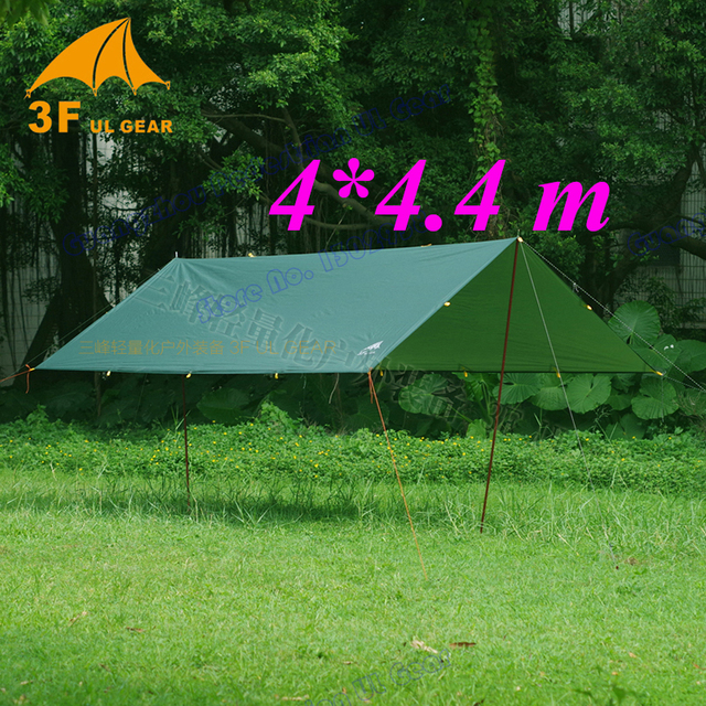 Tarp for Korea National forest 4x4.4 meters Anti UV 210T with silver coating outdoor large shelter high quality beach awning