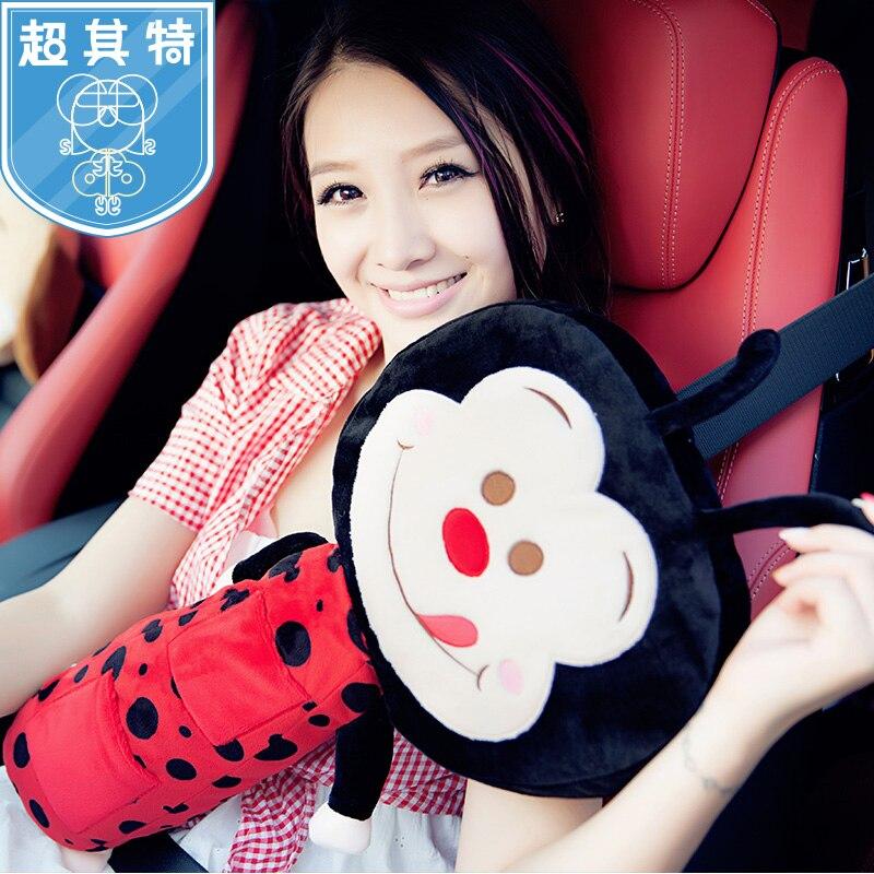Plush Toy Child Car Safety Seat Belt Shoulder Pad Car Cartoon Seat