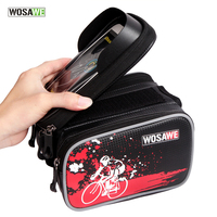 WOSAWE Bicycle Frame Front Head Top Tube Bag Waterproof Bike Cycling Bag Double IPouch For 6