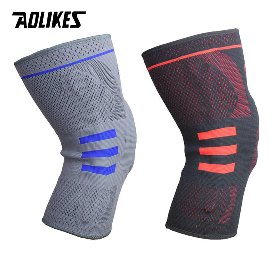 dd3510641e ... AOLIKES 1PCS Fitness Running Knee Support Protect Gym Sport Braces  Kneepad Elastic Nylon Silicon Padded Compression ...