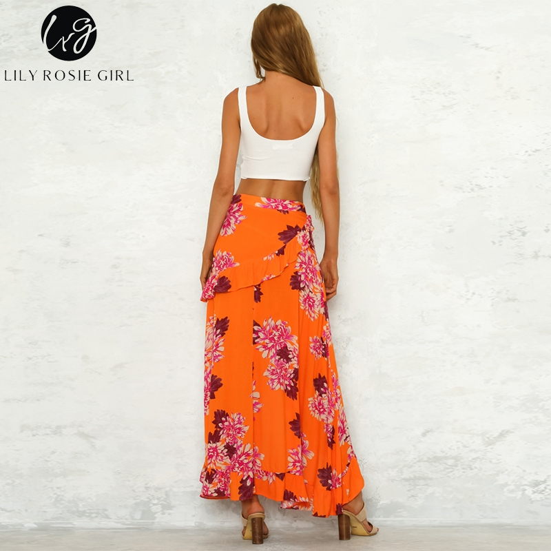 68331a5bf190a Lily Rosie Girl Floral Beach Long Skirt