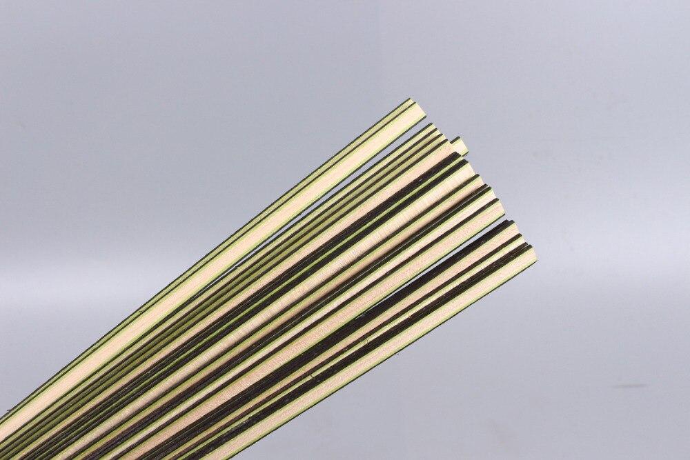 Bande de guitare bois Purfling reliure pièces de corps de guitare incrustation 640x6x1.2mm 170 #20 pcs