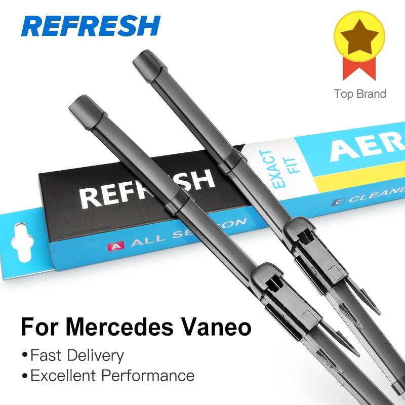 "REFRESH Щетки стеклоочистителя для Mercedes Benz Vaneo W414 2"" и 24"" Fit Pinch Tab Arms 2004 2005"