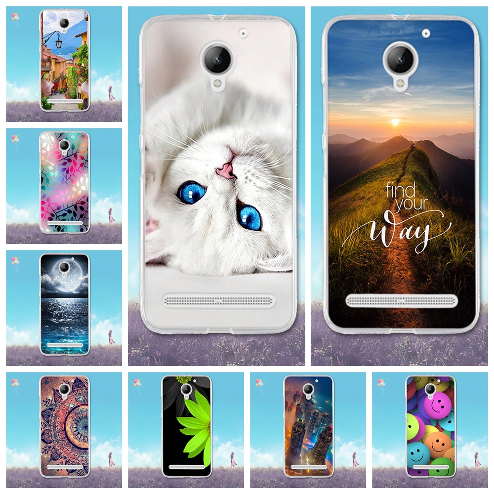 For Lenovo Vibe C2 Case 3D Cute Pattern Capa For Lenovo C2 Power Case Soft TPU Silicone Cover For Lenovo C2 K10a40 Phone Cases image