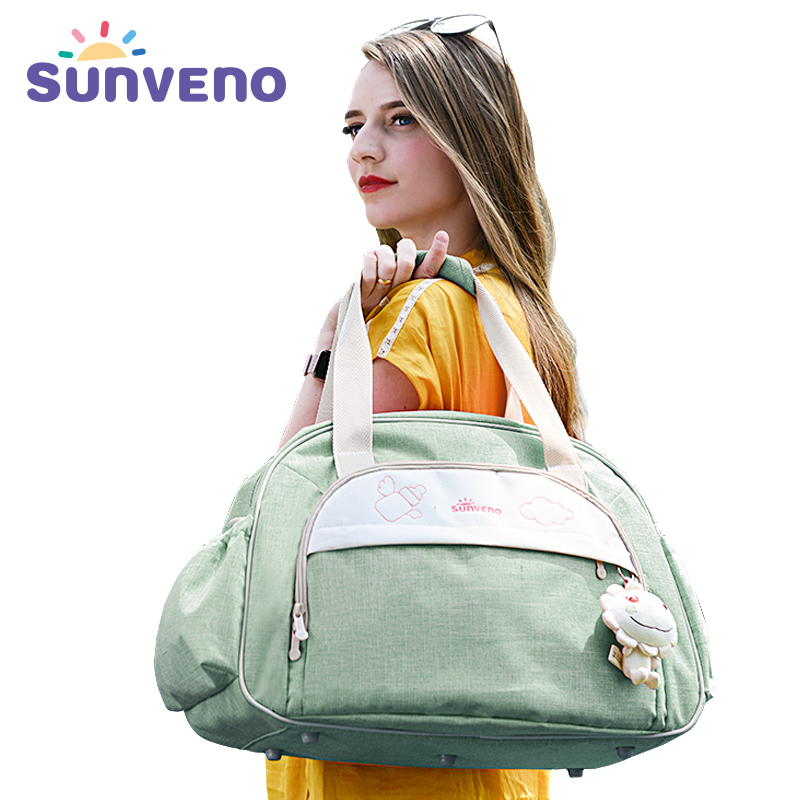 SUNVENO Fashion Diaper Bag Large Capacity Maternity Bag Waterproof Baby Bag For Mom Baby Travel Diaper Handbag For Sstroller