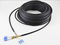 FirstFiber 100m LC SC FC ST PC UPC SM CPRI Outdoor 4core FTTA Patch cable Patch Cord G652 Fiber optic cable base station LSZH