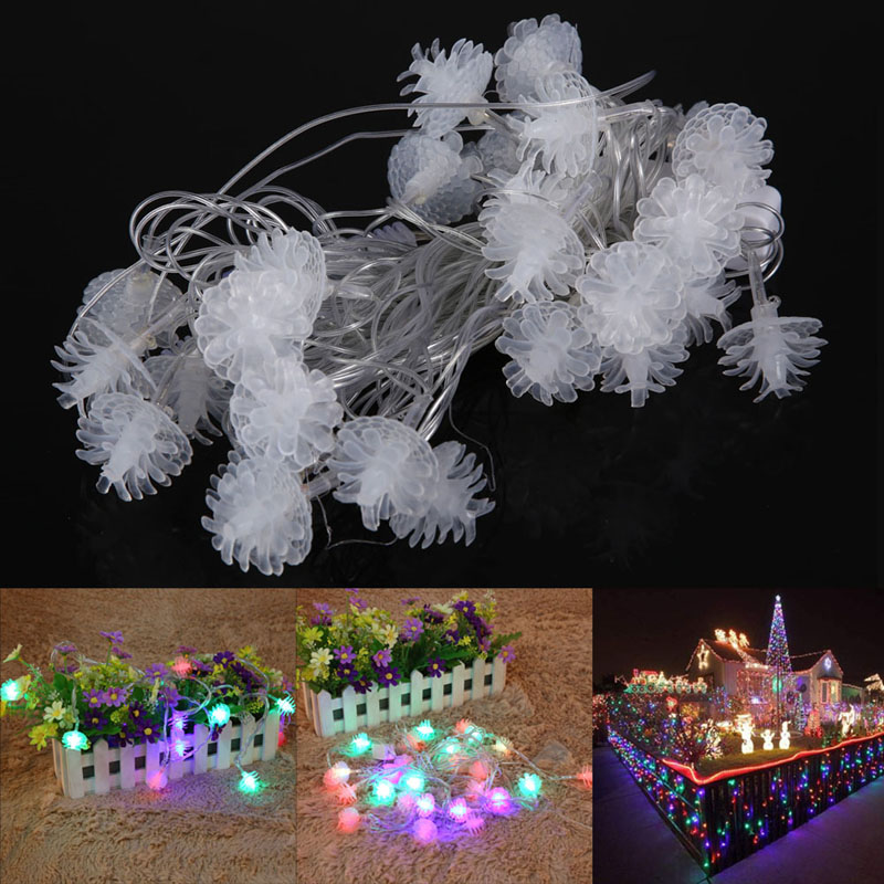 Aliexpress.com : Buy 26LED Lights For christmas tree decorations Pine Cone Fairy String Light ...