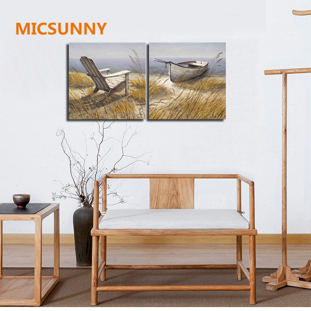 MICSUNNY No Framed Abstract Art Oil Paintings Poster For Living Room ...