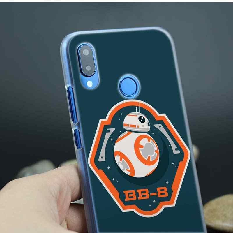 Star wars R2D2 жесткий пластиковый телефон Прозрачный чехол для huawei P Smart Nova 4 3i P30 P20 P10 P9 P8 lite Pro mini 2017 2019
