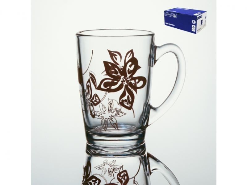 Set mugs Luminarc, Lily Flower, 6 PCs flower mirror wall sticker set 5pcs